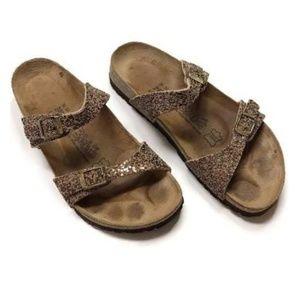 BIRKENSTOCK💟Tahati Glitter Bronze Sandals W7/M9